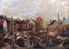 Carlisle Market Place in front of the Old Town Hall Old Pictures, Old Photos, Carlisle Cumbria, Oil On Canvas, Canvas Prints, Art Uk, Town Hall, Your Paintings, Old Town