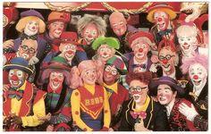 RBBB Clown Alley 1995, Gina & Chris Allison, Huel Speight, Darren Cooper, Max Richardson, ...