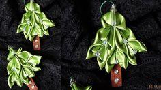Елка Канзаши.Decoration on Christmas tree kanzashi