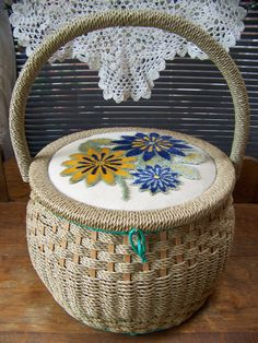 Hey, I found this really awesome Etsy listing at https://www.etsy.com/listing/191932368/vintage-large-shabby-chic-wicker-sewing