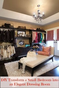This is definitely one thing I plan to do once I have my own home... Turn a small room into a big walk-in closet. Love the idea of never running out if closet space.