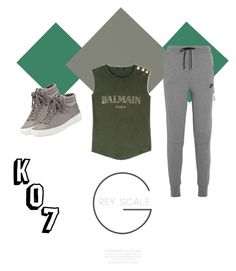 """Untitled #6"" by puspitakharis on Polyvore featuring Balmain, NIKE and MICHAEL Michael Kors"