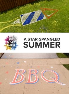 Find outdoor Spray Chalk at a store near you. Testors Spray Chalk goes where sidewalk chalk can't and is available in 4 different chalk colors. Patriotic Party, 4th Of July Party, Fourth Of July, Summer Bbq, Summer Parties, Summer Time, Spray Chalk, Sidewalk Chalk Art, Birthday Fun