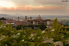 Sunrise over Bergamo, Lombardy, Italy