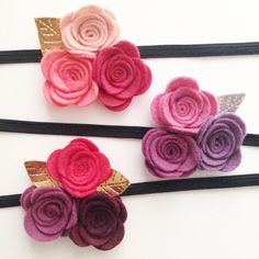 More new headbands! What do you think? I love this new felt; especially the…