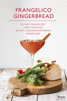 Turn cookies into cocktails! Mix Frangelico, dark rum and cinnamon schnapps in a shaker with ice. Strain into a chocolate-rimmed glass, top with a splash of ginger beer, and enjoy!