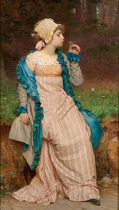 Charles Edward Perugini - 'He loves me, he loves me not'
