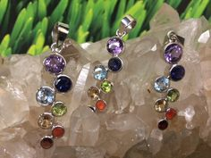 Cascading Chakra Pendant with high quality genuine Gemstones.