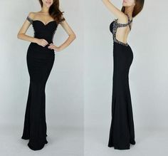 Sexy Women Sequins Vneck Backless Mermaid Prom Cocktail Evening Gown Long Dress | eBay