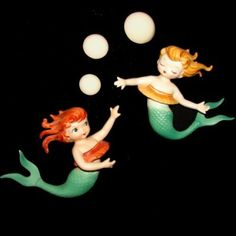 Vintage Lefton Mermaids