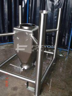Flowbin Tank - 75 litre IBC flowbin Konteyner | Füzyon Makina