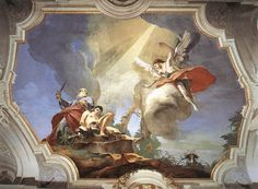 Giovan Battista Tiepolo 1696 – 1770     The Sacrifice of Isaac     fresco (400 × 500 cm) — 1726 - 1729 Palazzo Patriarcale, Udine     Giovan Battista Tiepolo biography     This work is linked to Genesis 22:10