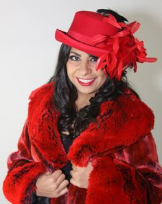 Blazing Glory Top Hat In Red Wool Felt Embellished With Feathers By LaVieEnRosas #Tophat #Redhat Woolhat #Rockstarfashion