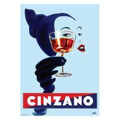 Vintage Poster - Cinzano Aperitf - Drink - Alcohol