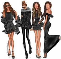 You can have any color as long as it's black ♥ Total black outfits by #LilyFashionSketch ____________________________________ #fashionillustration #fashionsketch #illustration #illustrator #sketch #art #artwork #artshelp #totalblack  #digitalwork #artist  #fashionblogger #streetstyle #streetfashion #fashiondiva #fashionista #fashionblogger #ootd #ootn #outfit #lookoftheday #lookbook #photooftheday #sketchoftheday  #моднаяиллюстрация #иллюстрация #иллюстратор #samsungsketch