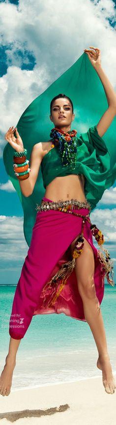 Barbara Fialho Beach Fashion for Harper's Bazaar Mexico by Danny Cardozo.