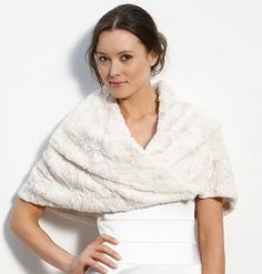 I like the look of fur for a winter wedding, but hate fur. This is a cute faux fur look. Eliza J Faux Fur Stole available at Autumn Bride, Winter Bride, Winter Weddings, Wedding Suits, Wedding Attire, Wedding Dresses, Wedding Shrug, Wedding Bride, Fall Wedding