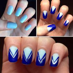 #nails #nailart #nail #naildesign #blue #bluenails #trianglenails #nailartdesign #nailaddict #nailswag #naildesigns #nailstagram #nailsdid #byme #bluenail #triangle #silver #likeforfollow #followme #doubletap #inspired #stepbystep #stepbystepnails #nailtutorial by chloehallofficial