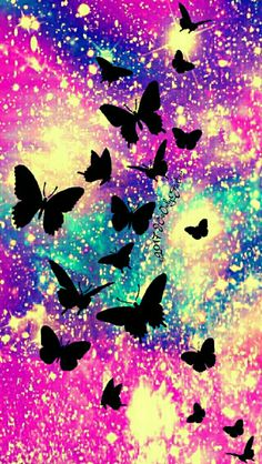 Summer butterflies galaxy iPhone/Android wallpaper I created for the app CocoPPa!
