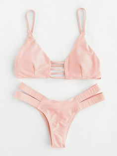 Shop Ladder Cutout Caged Back Bikini Set online. SheIn offers Ladder Cutout Caged Back Bikini Set & more to fit your fashionable needs.