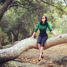 "Dita Von Teese on Instagram: ""Glamping in my @wheelsanddollbaby emerald green cardigan http://teese.us/cardigan"""
