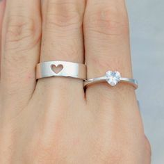 Couple Ring Set His and Her Promise Rings Promise by JewelryRB