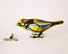 Original Vintage bird tin toy via ilivevintage on Etsy, 22.00