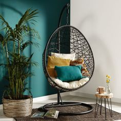 decor tiener Hangstoel Swing Wall Color In 2019 Bedroom Decor Room Decor Hangstoel Swing Wall Color In 2019 Bedroom Decor Room Decor Green Bedroom Walls, Teal Walls, Home Decor Bedroom, Home Living Room, Living Room Decor, Decor Room, Hanging Furniture, Swinging Chair, Cheap Home Decor