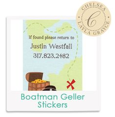 Chelsea's Fave! Boatman Geller Personalized Pirate Stickers from @LaylaGrayce #laylagrayce #lgstaff #children
