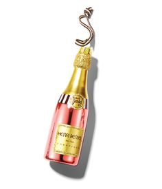 Henri Bendel Rose Champagne Ornament - Christmas Ornaments - Designer Christmas Decorations
