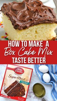 Cake Mix Recipes, Baking Recipes, Dessert Recipes, Homemade Desserts, Easy Desserts, Royal Recipe, Box Cake Mix, Baking Cakes, Cake Tasting