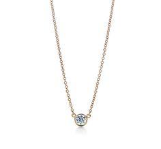 Tiffany's solitaire diamond necklace