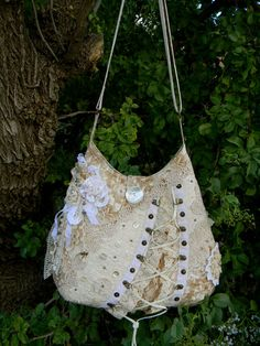 Free Shipping USA Ivory Beige Bohemian Shoulder by AllasOriginals,  gorgeous hobo bag