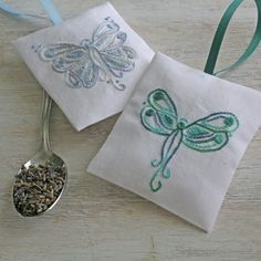 DIY pdf Crewel Embroidery Pattern Angels - Butterfly and Dragonfly digital…