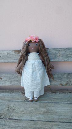 Batsheva Doll Playdoll Dark doll Long Hair Doll Rag Doll