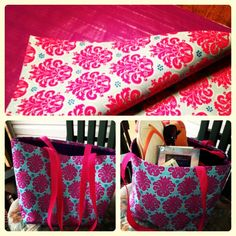 Fabric and duct tape no-sew tote bag!!