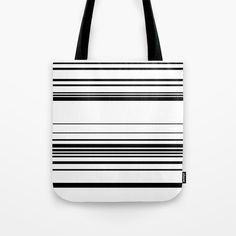 Complex Stripes - Black on White Tote Bag by laec | Society6