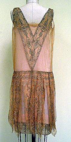 Dress, Evening. Callot Soeurs (French, active 1895–1937). Date: ca. 1927. Culture: French. Medium: silk, metal. Dimensions: Length at CB: 33 in. (83.8 cm).