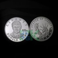Free Shipping 1pcs/lot  American Donald John Trump POTUS silver metal silver coin high quality coin