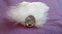 Bridal feather hair accessory clip by 4FendersFarm on Etsy, $15.00