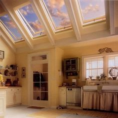Skylights and big bay windows in the kitchen.. that is the dream