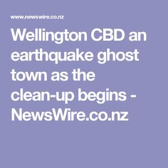 Wellington CBD an earthquake ghost town as the clean-up begins - NewsWire.co.nz