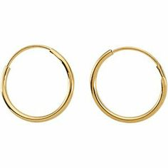 Jewelry Locker Youth Endless Hoop Earrings Jewelry Locker. $69.40. Comes with pad, box, tote bag and signature card. 14K Yellow Gold. 14.00 MM