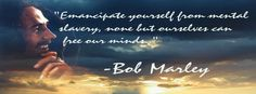 Bob Marley quote timeline cover banner