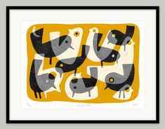 Very Early Birds by Lo Cole - Limited edition archival pigment ink print