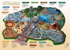 Is this Star Wars Lucas World theme park map fake or leaked? Find out what we know about the new Star Wars Land Disney park expansions. Stars Disney, Star Wars Disney, Theme Star Wars, Star Wars Art, Theme Park Map, Star Trek, Disneysea Tokyo, Attraction, Parc Disneyland