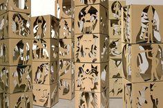 escultura cartón                                                                                                                                                                                 Más