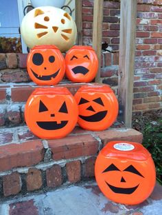 Jack o'Lanterns from my Tide Pod detergent containers.                                                                                                                                                     More