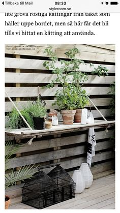 black, white & red: DIY relief table on the wooden deck
