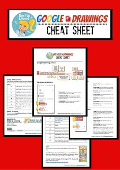 Google Drawings Cheat Sheet for Teachers and Students! This quick resource guide will help you and your students make the most of Google Drawings and Google Drive.